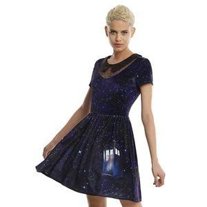 Hot Topic Dr. Who tardis velvet dress